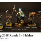 """Malkrieg 2018 Runde 3 'Helden' - """"Gruppenbild mit Dame"""""""
