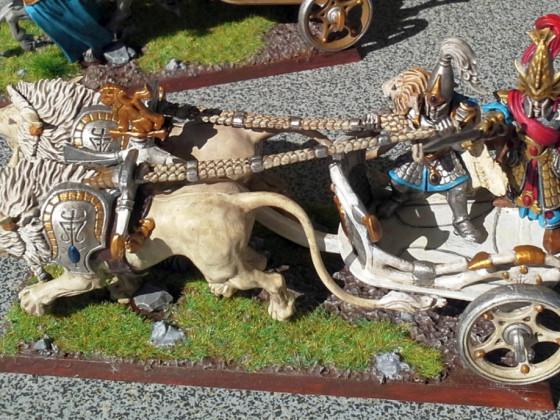 Löwenstreitwagen mit Charakter