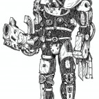 76880_md-80´s, Artwork, Chaos, Chaos Space Marines, Conversion, Daemons, Drawing