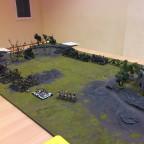 Spieltisch mit Partie: 1500p Orks&Goblins vs. Gruftkönige - Kurz Kampagne / Schlacht 2: Vernichtet die Verstärkungen