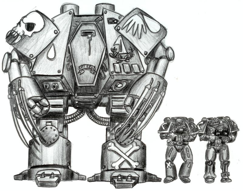 Zeichnungen von Cybots