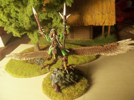 Hochelfen Magier auf Riesenadler