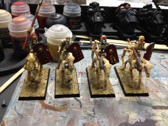 Die letzten Reiter der Armee vor und nach der Bemalherausforderung