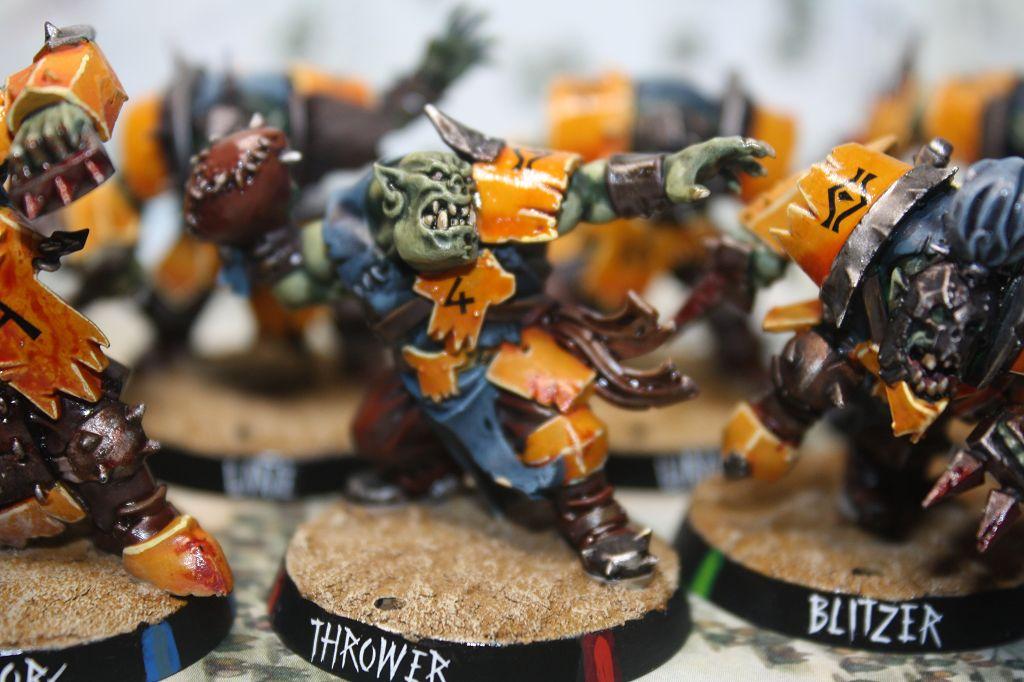 """Bloodbowl Orks """" Orkburg evil son's"""""""