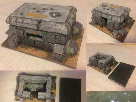 Bunker mit abnehmbarem Dach.