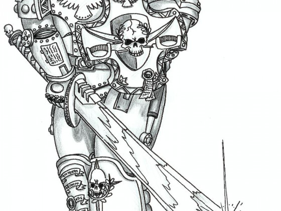 115586_md-80´s, Artwork, Chaos, Chaos Space Marines, Conversion, Daemons, Drawing