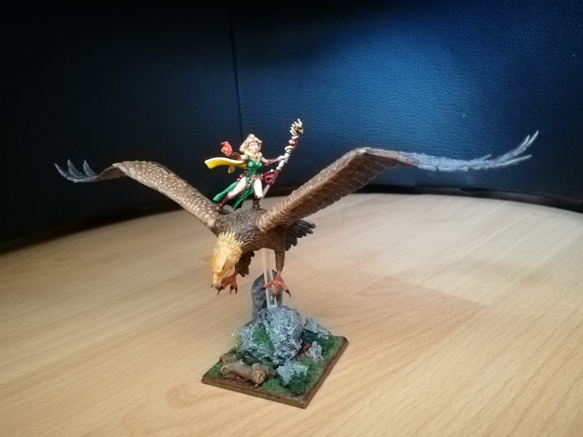 Magierin auf Adler