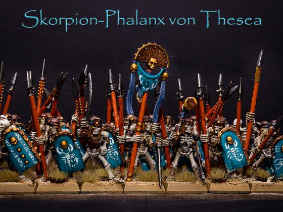 Malkrieg 2019 - Runde 1 - Gruftkönige - Phalanx von Thesea