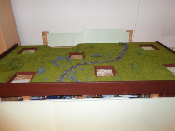 Haalis erstes Gelände: Rahmen