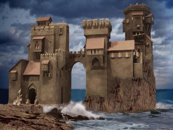 Burg am Meer