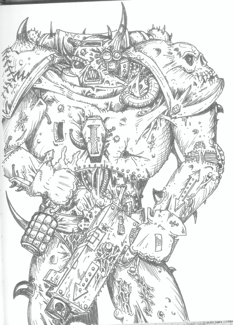 76883_md-80´s, Artwork, Chaos, Chaos Space Marines, Conversion, Daemons, Drawing