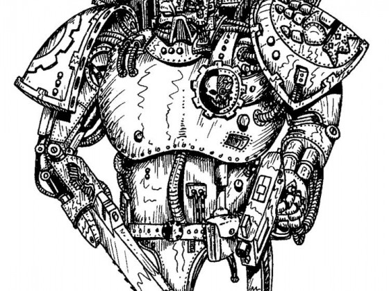 76894_md-80´s, Artwork, Chaos, Chaos Space Marines, Conversion, Daemons, Drawing