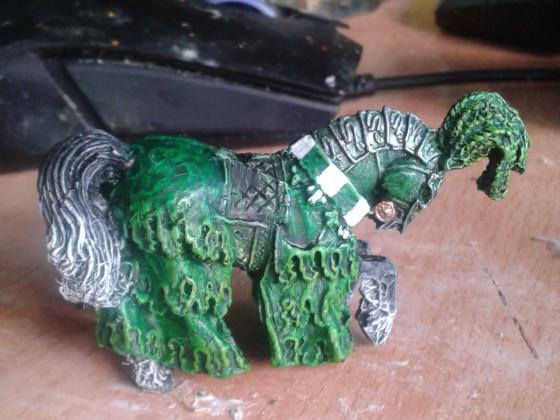 Grüner Ritter Pferd