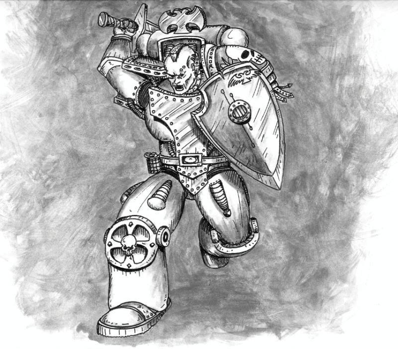 112561_md-80´s, Artwork, Chaos, Chaos Space Marines, Conversion, Daemons, Drawing
