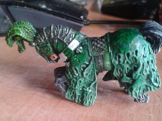 Grüner Ritter Pferd 2