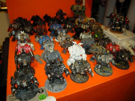 108253_md-Chaos, Chaos Space Marines, Conversion, Dreadnought, Metal, Space Marines