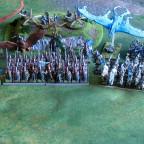 Hochelfen Armee komplette bemalte Schlachtreihe