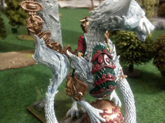 Magierin auf jungem Drachen