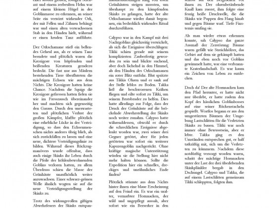 """Dreiundzwanzigstes Türchen """"Hinterhalt auf dem Rücken des Sotek"""" (Kurzgeschichte)"""