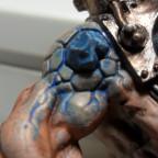 Albino-Rattenoger mit blauen Warpstein