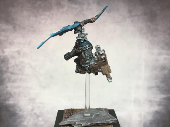 Gyrokopter Rücken