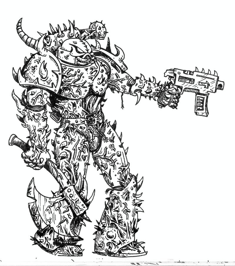 76882_md-80´s, Artwork, Chaos, Chaos Space Marines, Conversion, Daemons, Drawing