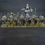 Skelettkrieger mit Handwaffe und Schild