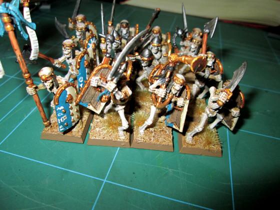 Skelettkrieger der Gruftkönige