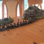 Die Zwerge bemannen die Mauern ihrer kleinen Festung und schauen Tapfer ihrem Ende entgegen...