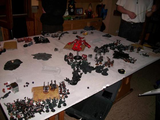2 gegen 2 jeweils 2000pkt Tau und Orks gegen Blood Angels und Black Templers
