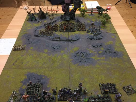 """Schlacht 3 der """"Druidenfürst Kampagne"""" - 'Der Kampf um den Sichelberg' - 2600p - Orks & Goblins vs. Gruftkönige"""