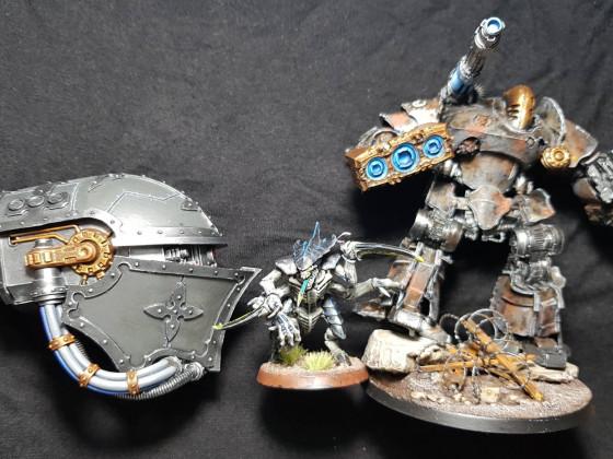 Warlord Titan 'Godsbane' and Princeps Sebastus Vyth, Legio Indomitus, Forge World Graal