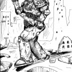 140633_md-80´s, Artwork, Burning City, Chaos, Chaos Space Marines, Conversion, Daemons
