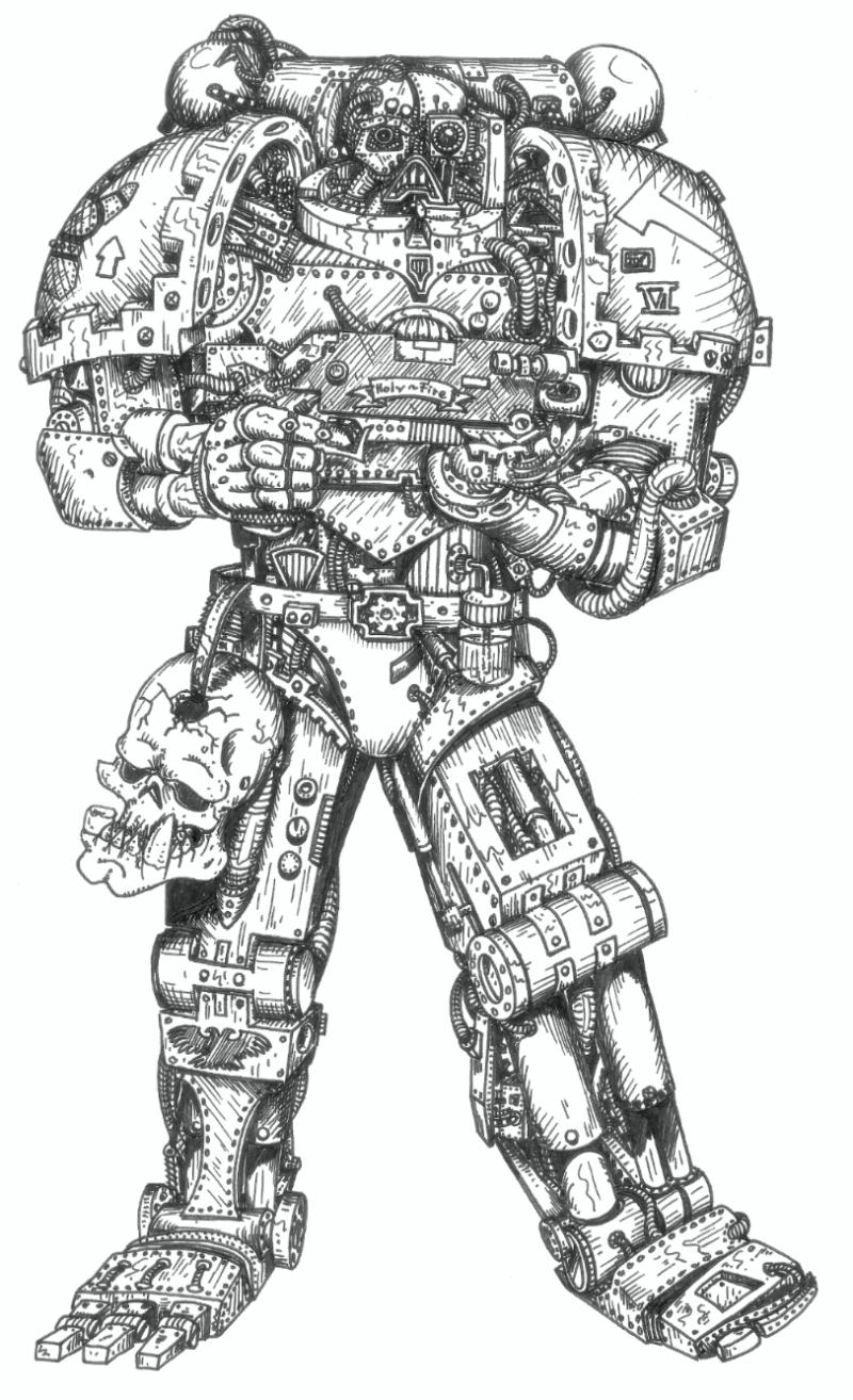 119502_md-80´s, Artwork, Chaos, Chaos Space Marines, Conversion, Daemons, Drawing