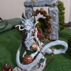 Elfenmagierin und Goblin