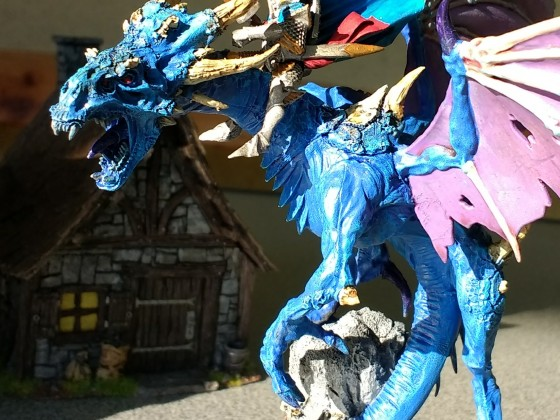 Warpfyre Dragon mit Hochelfen Reiter