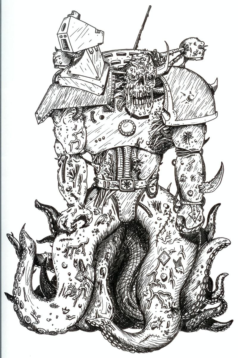 76877_md-80´s, Artwork, Chaos, Chaos Space Marines, Conversion, Daemons, Drawing