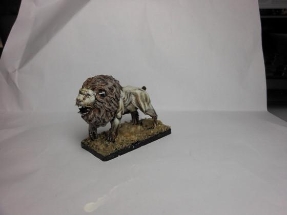 Ein weißer Löwe